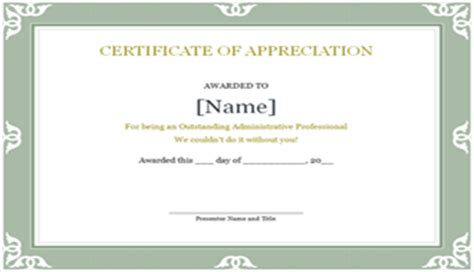 professional certificate templates free certificate of appreciation