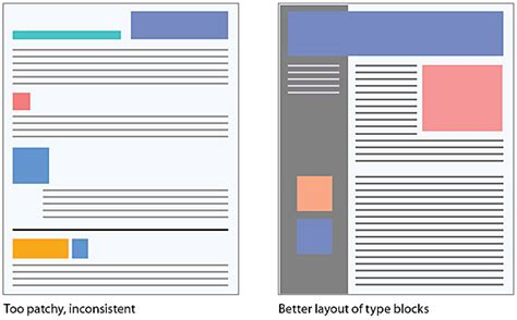 page layout document design legibility web style guide 3
