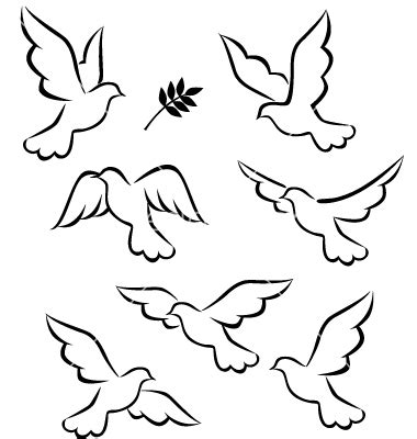 Small Dove Outline by Colomba Pasaquale