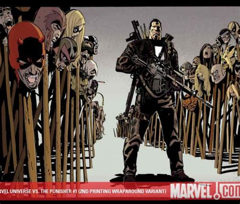 libro punisher vs the marvel marvel universe vs the punisher 2010 1 2nd printing wraparound variant comics marvel com