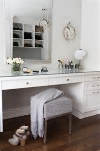 Built In Makeup Vanity Table White Built In Make Up Vanity With Glass Pulls
