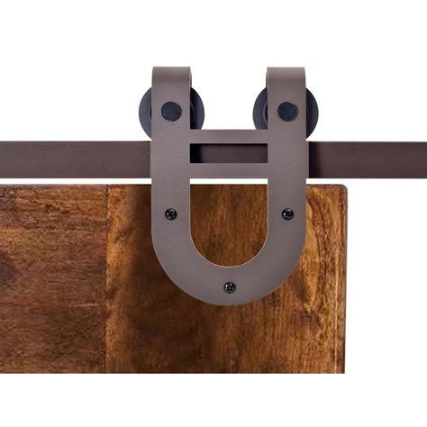 Calhome 72 In Antique Bronze Rustic Horseshoe Barn Style Barn Style Sliding Door Hardware