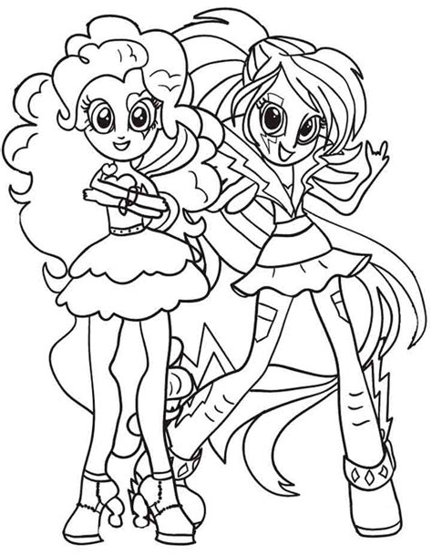 Equestria Girls Coloring Pages Pinkie Pie And Rainbow Dash Equestria Rainbow Dash Coloring Pages Free