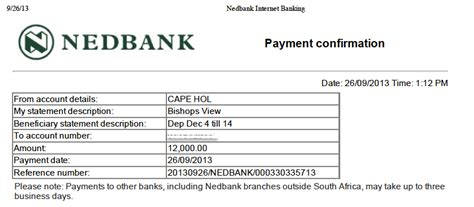 nedbank bank accounts self catering accommodation in cape town