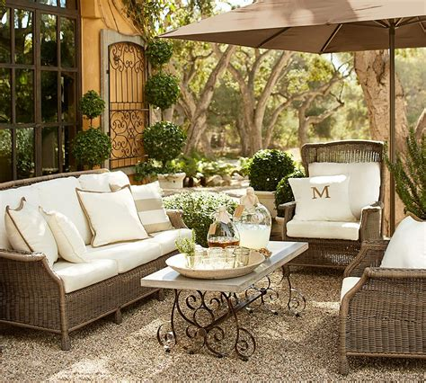 pottery barn furniture how to take care of wicker outdoor furniture