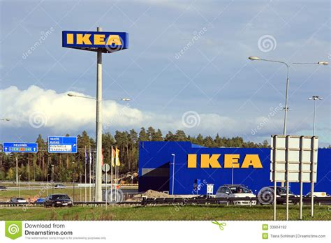 ikea stock ikea store in raisio finland editorial photography