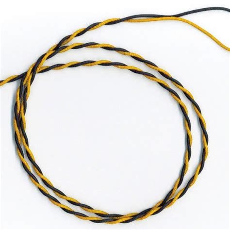 black and yellow wires unipolar wire twisted 2x1 flry b 6722 yellow black