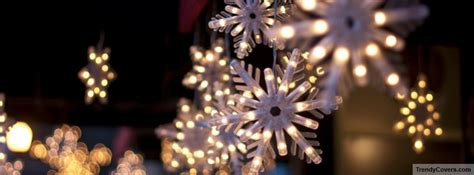 christmas snowflake lights facebook cover trendycoverscom