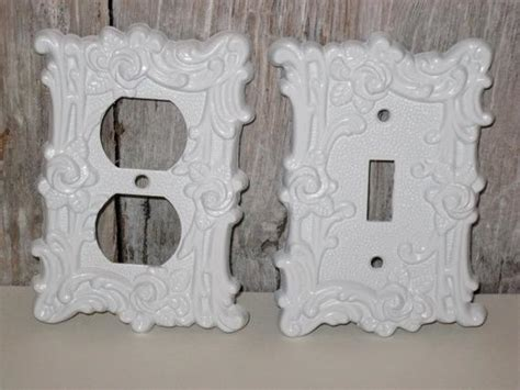shabby chic outlet covers shabby chic switch plate white vintage outlet cover by