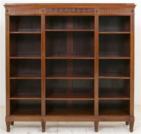 superb quality mahogany open bookcase c 1860