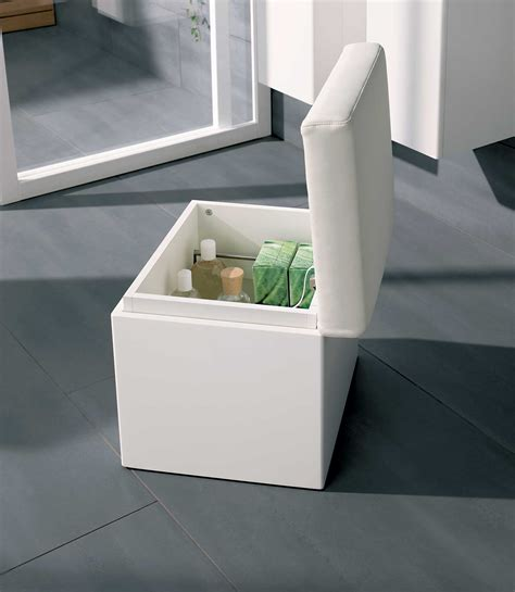 Bathroom Seat Storage Twyford All White Finish Bathroom Seat With Storage Ta0901wh