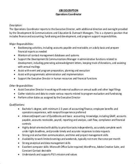 sle hr coordinator description 9 exles in word pdf