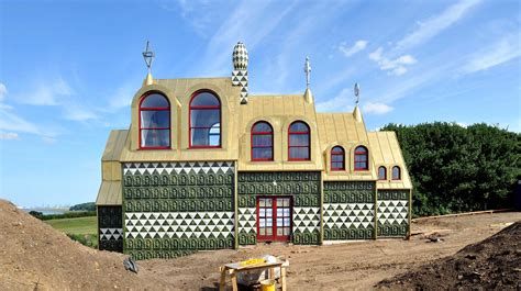 perry house grayson perry designs gingerbread house in essex anglia itv news