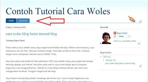 membuat blog menu cara membuat menu navigasi di blog cara woles