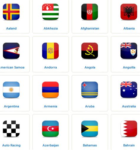 names of different types of individual by african 40 free world flags icon sets hongkiat