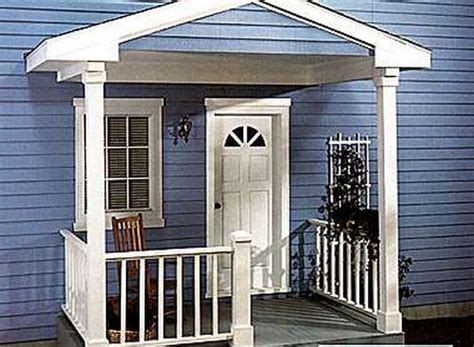 front porch plans free adding a small covered front porch porch using weather wicker furniture is the best for