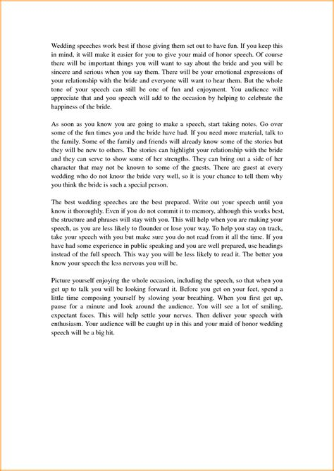 10 Great Maid Of Honor Speech Ideas For Sister Of Honor Speech Template
