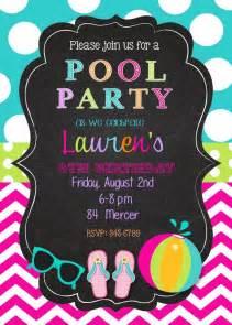 pool birthday party invitation nice pool party invitation template