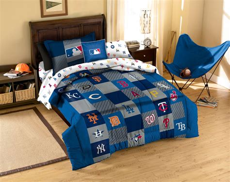 mlb comforter set baseball league teams 2pc twin bedding