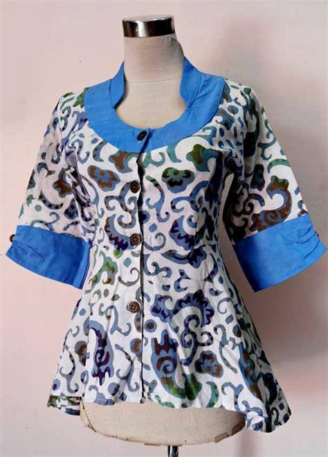 Serut Asimetris Blouse model batik wanita blouse plum asimetris maudy a01 daniyanti
