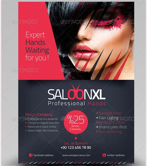 beauty saloon flyer template anchorstyles pinterest
