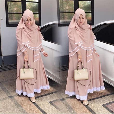 2017 Najibah Syar I White Baju Muslim Wanita Warna Putih Gamis Syari 18 trend baju muslim 2017 untuk wanita stylish dan modis
