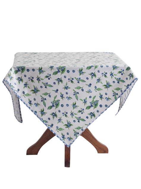 kitchen table linens blueberries tablecloth table linens kitchen