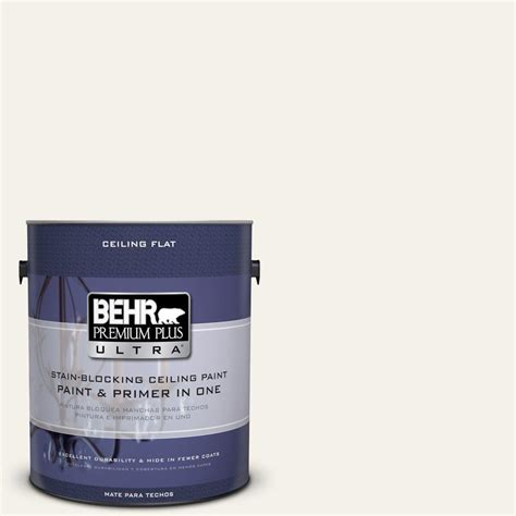 behr premium plus ultra 1 gal ppu18 7 ceiling tinted to falling snow interior paint 555801