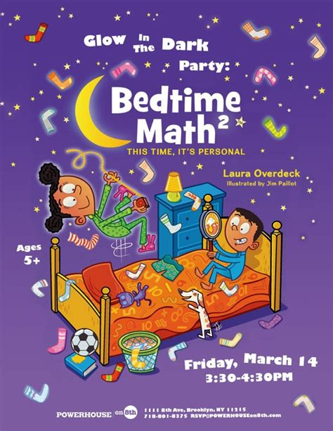 bed time math glow in the dark party bedtime math 2 by laura overdeck