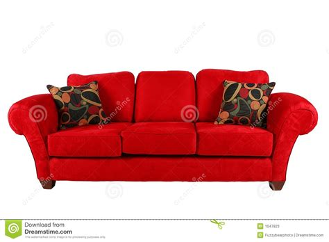 rotes sofa sofa with modern pillows stock image image 1047823