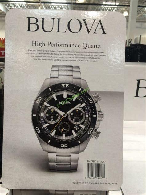 bulova stainless steel mens chronograph  model  costcochaser