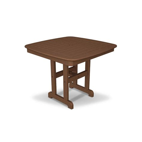 Trex Outdoor Furniture Yacht Club 37 In Tree House Patio Outdoor Patio Dining Table
