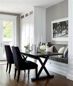 Bench Seating Dining Room by Built In Dining Bench With X Based Dining Table