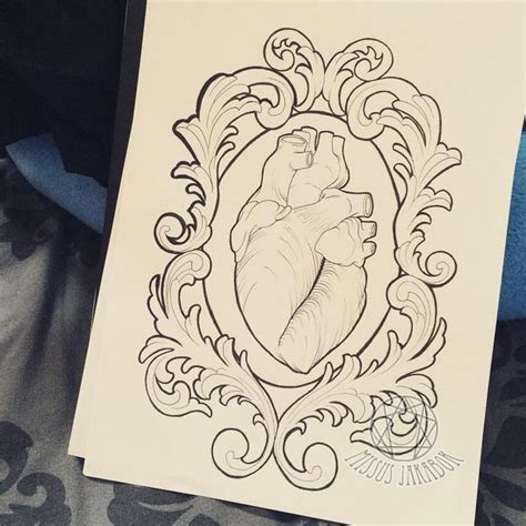Tattoos Bilder 3776 by Anatomical In Filigree Frame Design By Missus