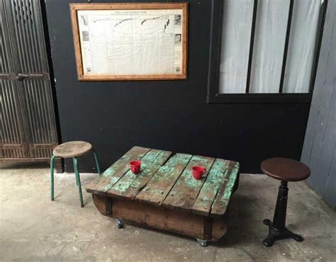 Table Basse Palette Industrielle Vintage 4177 by Ancienne Palette Table Basse