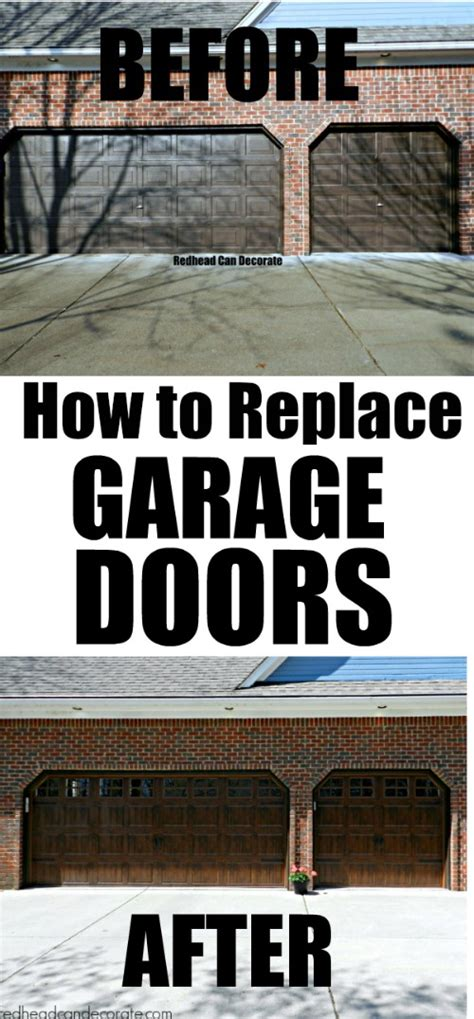 How To Replace A Garage Door by How To Replace Garage Doors The Easy Way