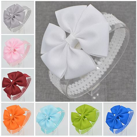 21 color baby hair bows handmade flower lace headband floral newborn toddler ribbon hair bands