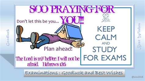 Exams : GoodLuck and Best Wishes | Student Christian ... Final Exam Wishes