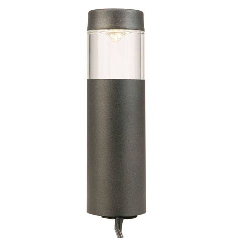 Walkway Lighting Fixtures Hton Bay Low Voltage Black Outdoor Integrated Led Bollard Path Light Isv1801l 3 The