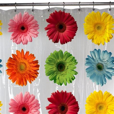 gerber daisy shower curtain daisy vinyl shower curtain archives 171 the frugal