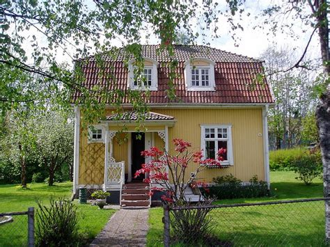 typical swedish house charming and befitting such a