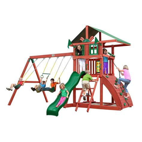 Backyard Discovery Oakmont Cedar Backyard Discovery Oakmont All Cedar Playset 65114com