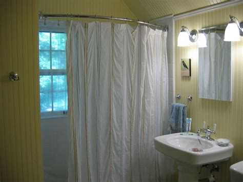 angled shower curtain make your own neo angle shower curtain rod the decoras