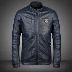 Shop philipp plein men s leather jacket pp 5012n online outlet sale