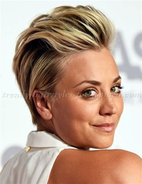 short hairstyles kaley cuoco combed back hairstyle