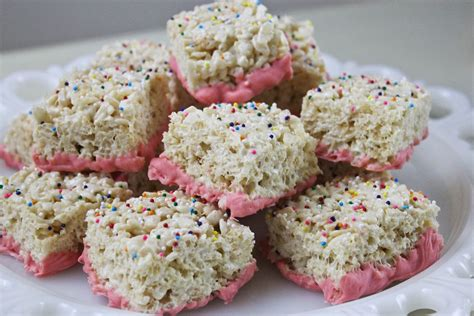 rice krispie treats from dahlias to doxies pink chocolate rice krispie treats