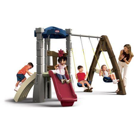 tikes swing set tikes endless adventures lookout swing set