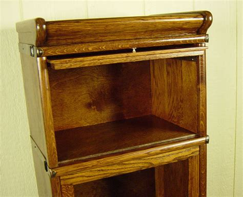 Macey Bookcase Parts Rare 4 Section Miniature Macey Co Stacking Oak Bookcase