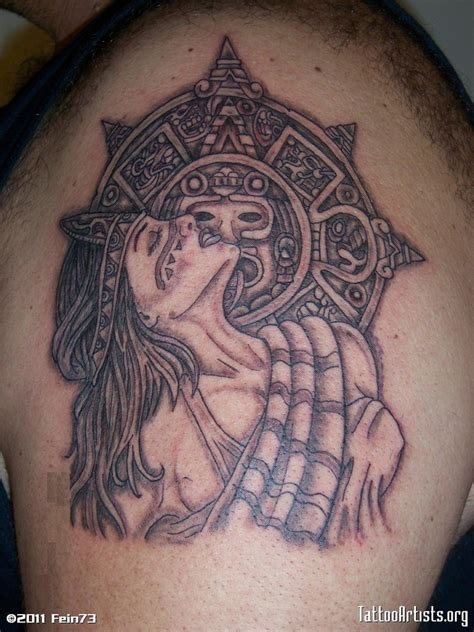 aztec girl tattoo designs aztec design on shoulder tattoos book 65
