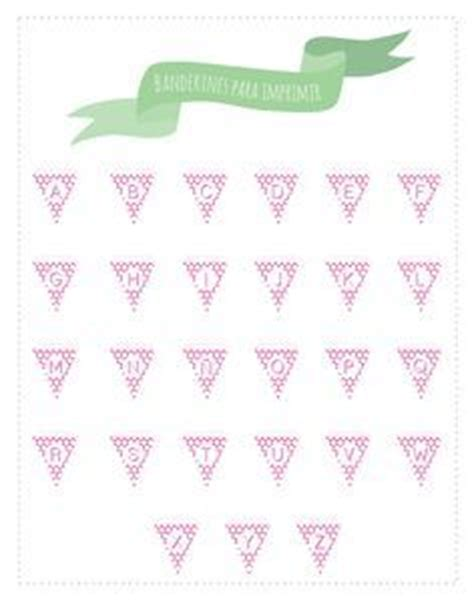 printable mini alphabet bunting mini bunting printable nice to have the template if i